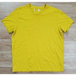 American Giant Mens Classic Cotton Yellow T-Shirt